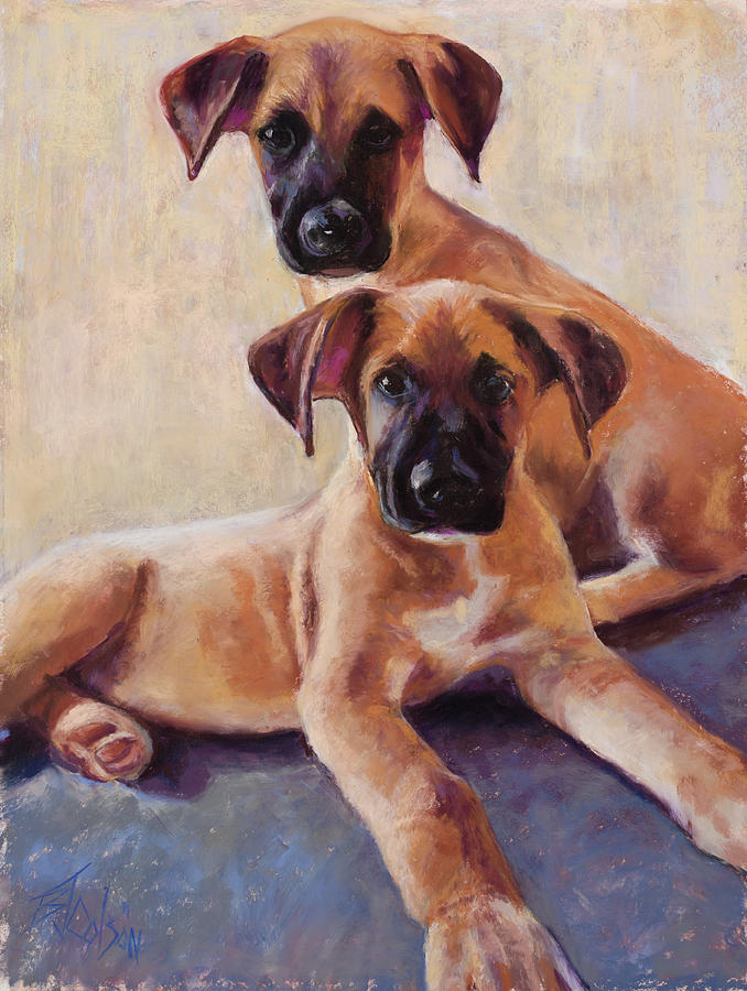 Great Dane Painting - The Perfect Pair by Billie Colson