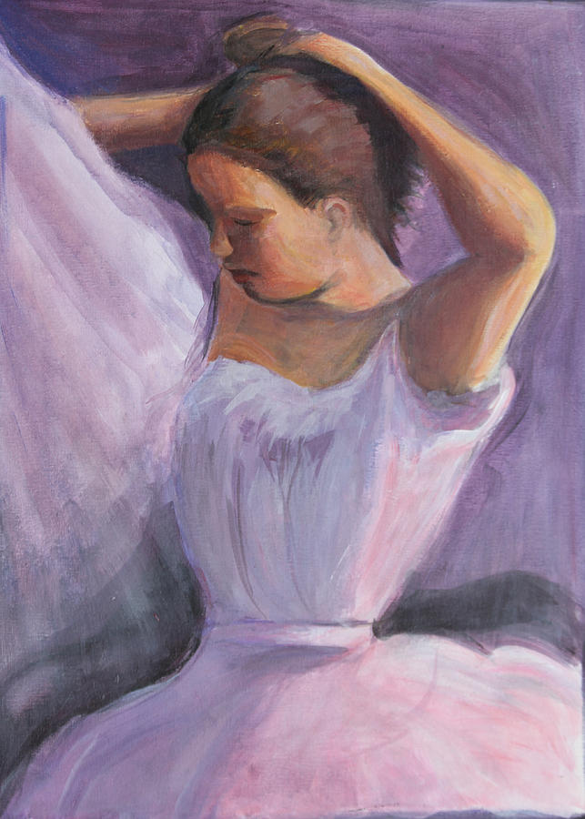 Ballerina Painting - The Performance by Gwen Carroll
