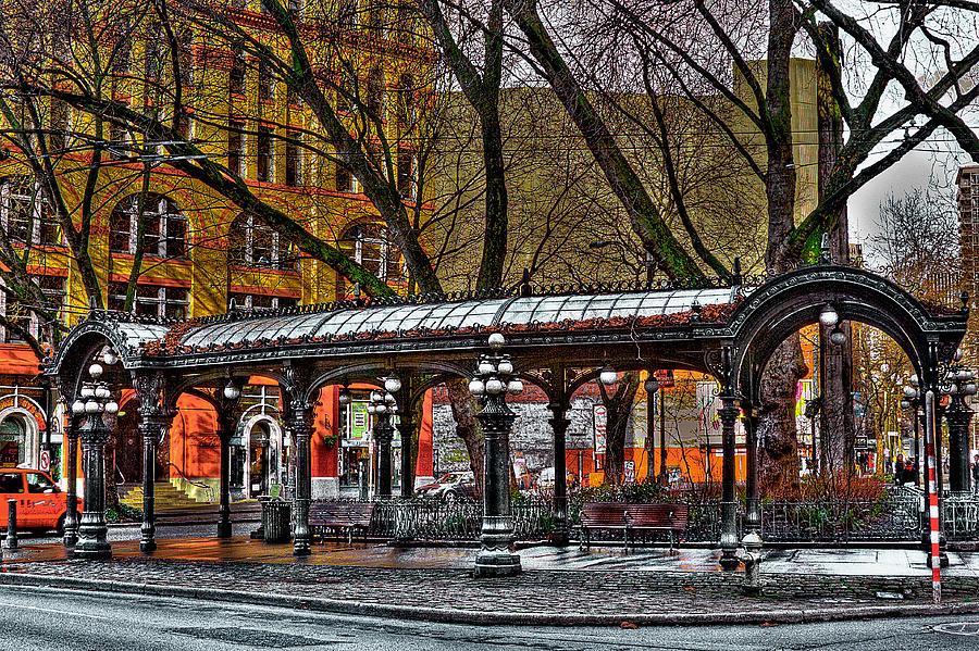 The Pergola Photograph - The Pergola In Pioneer Square - Seattle  by David Patterson