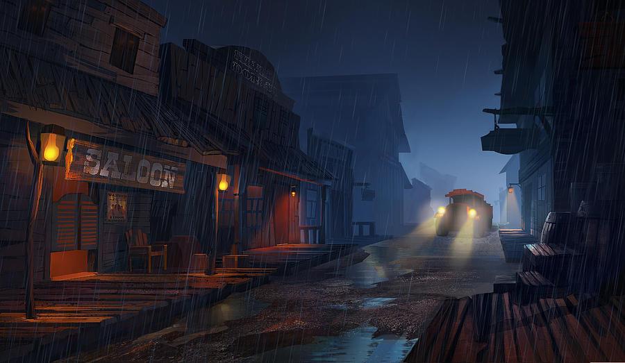 Rain Painting - The Phantom 309 by Kristina Vardazaryan