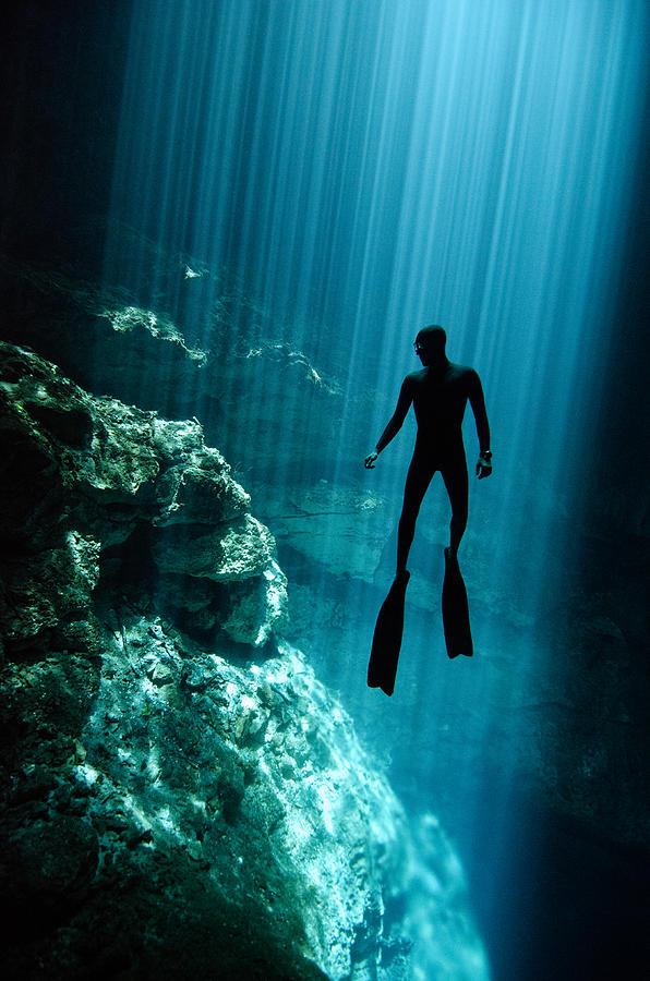 Freediving Photograph - The Phantom by One ocean One breath