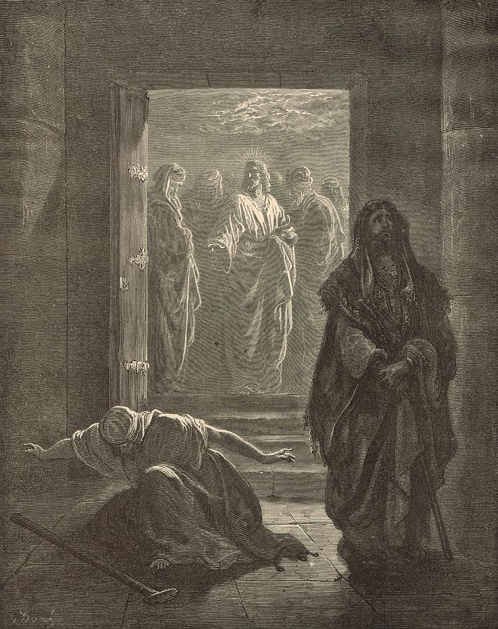 Biblical Drawing - The Pharisee And The Publican by Antique Engravings