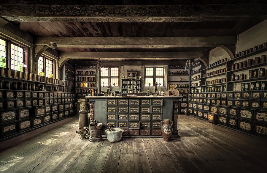 Store Photograph - The Pharmacy by Ole Moberg Steffensen