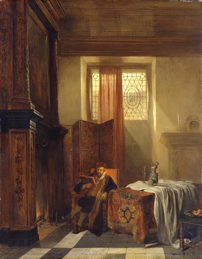 Philosopher Painting - The Philosopher by Hubertus van Hove