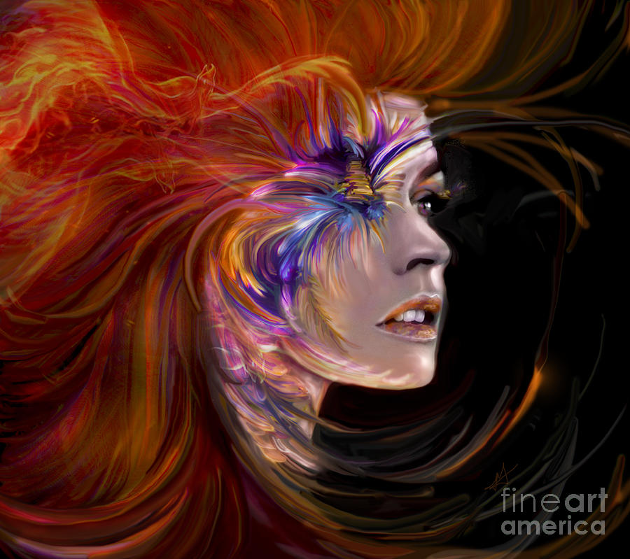 Portrait Digital Art - The Phoenix by Jaimy Mokos