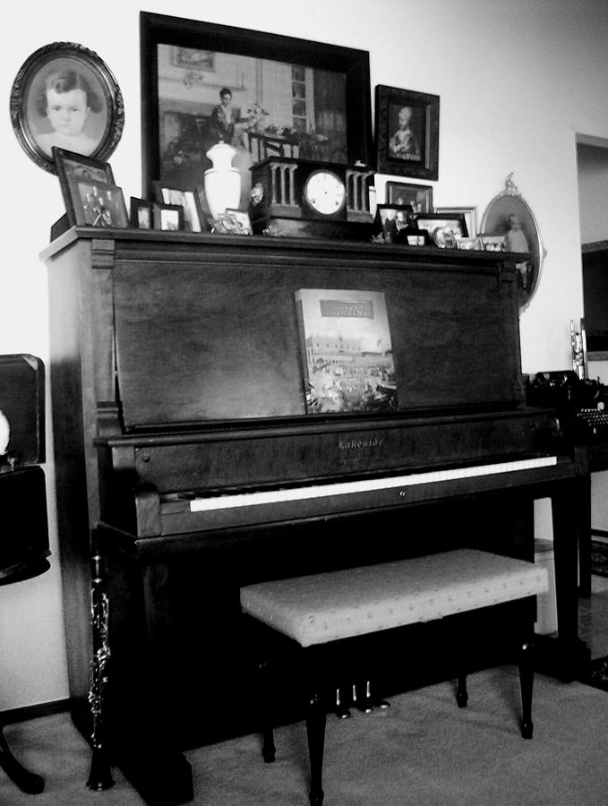 Instruments Photograph - The Piano And Clarinet  by Peggy Leyva Conley