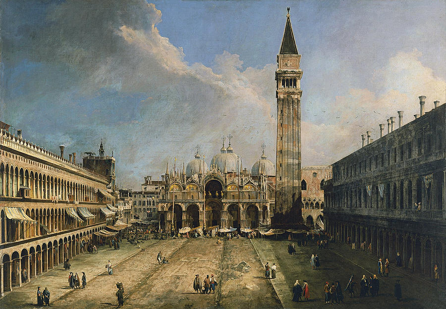 Venice Painting - The Piazza San Marco In Venice by Canaletto