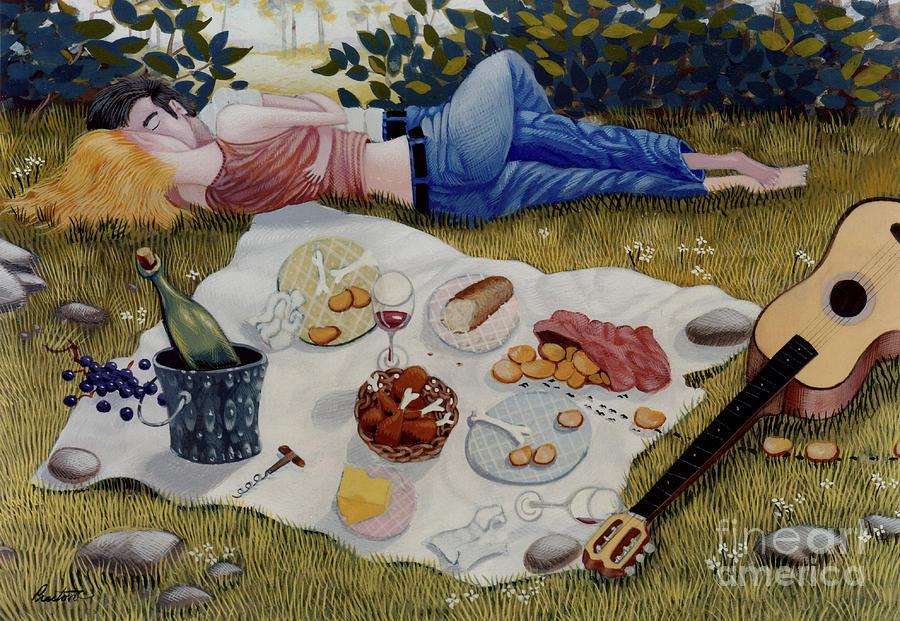 Пикник прикольные рисунки, картинки барселоной открытки