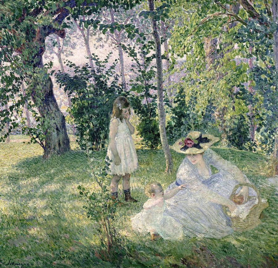 Idyllic Painting - The Picnic by Henri Lebasque