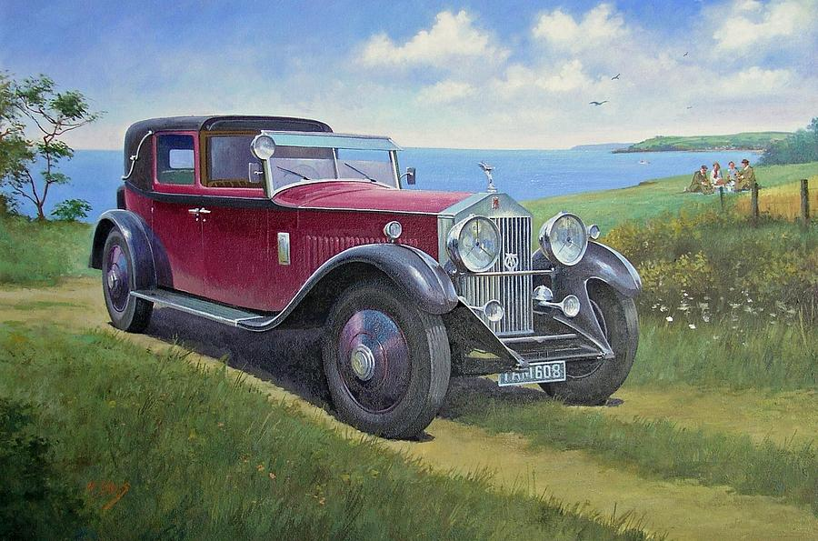 Rolls Royce Painting - The Picnic by Mike Jeffries