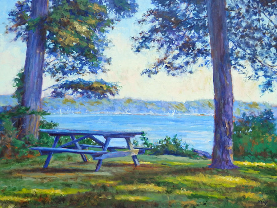 The Picnic Spot Painting By Michael Camp