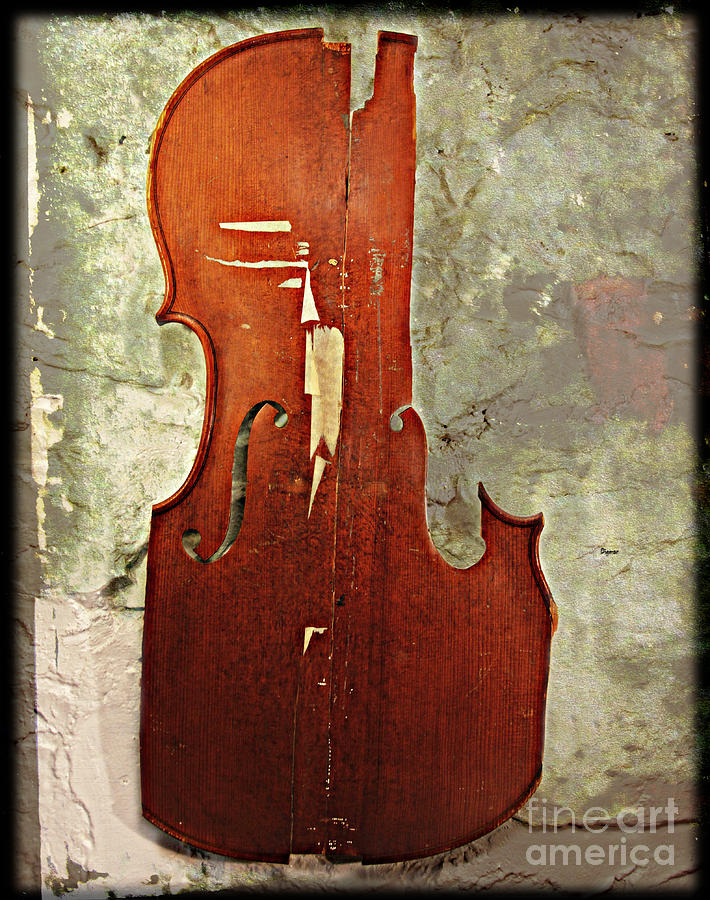 Cello Photograph - The Pictorial Language Of Figured Past Events  by Steven Digman