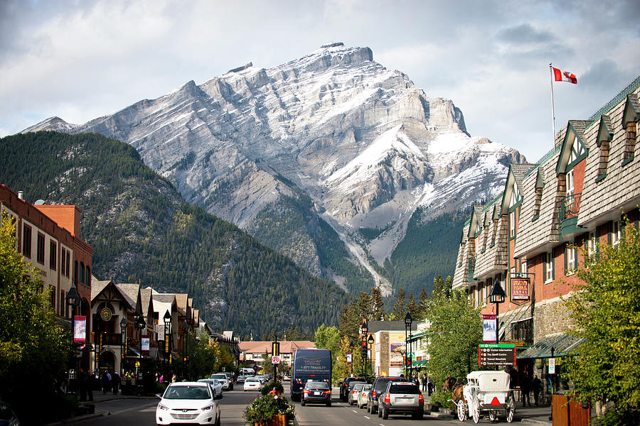 Alberta Photograph - The Picturesque Town Of Banff, Canada by Rob Hammer