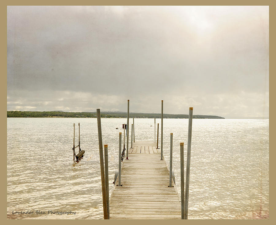 Lake Photograph - The Pier by Beverly Cazzell