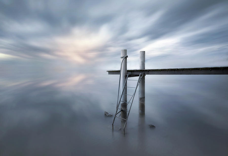 Leman Photograph - The Pier by Joaquin Guerola