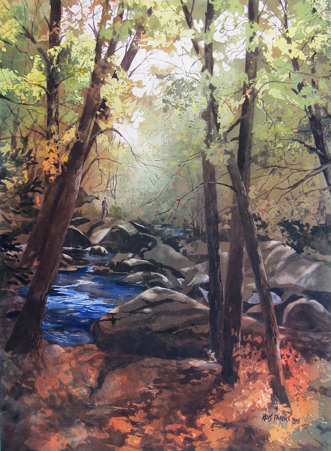 Watercolor Painting - The Pilgrimage by Kris Parins