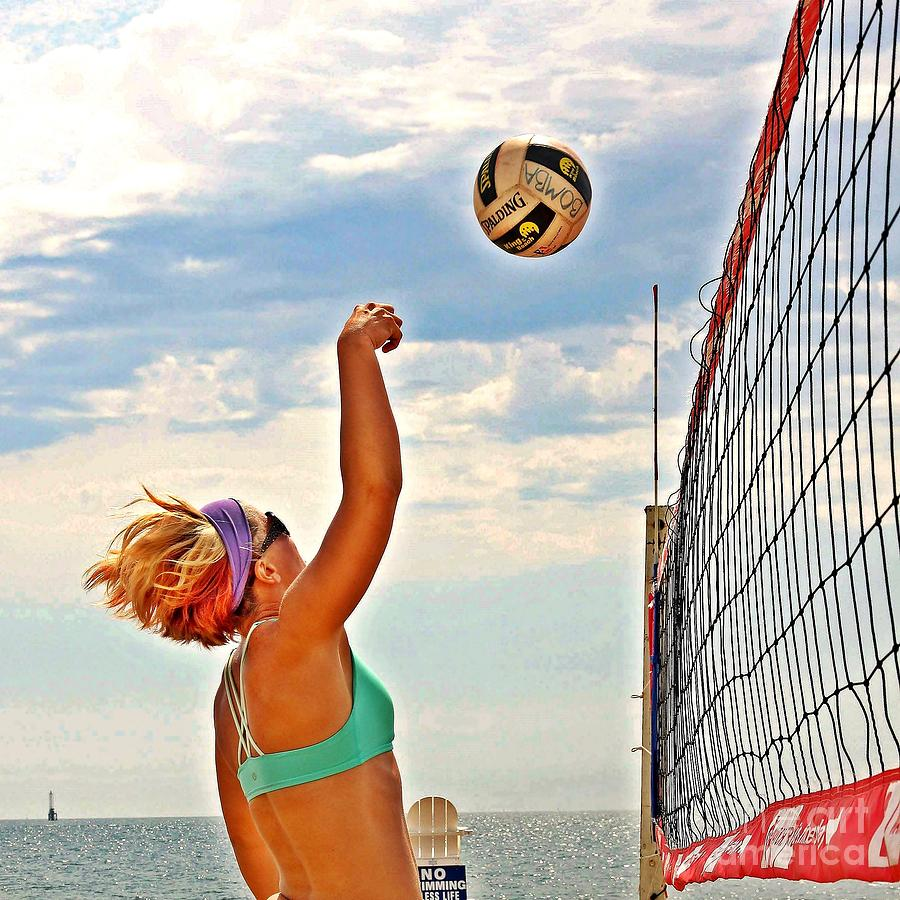Volleyball Photograph - The Pink Bomba by Scott Allison