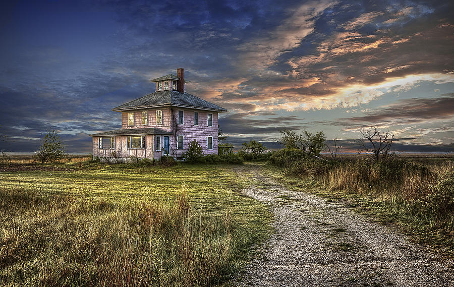 The Pink House - color by Rick Mosher