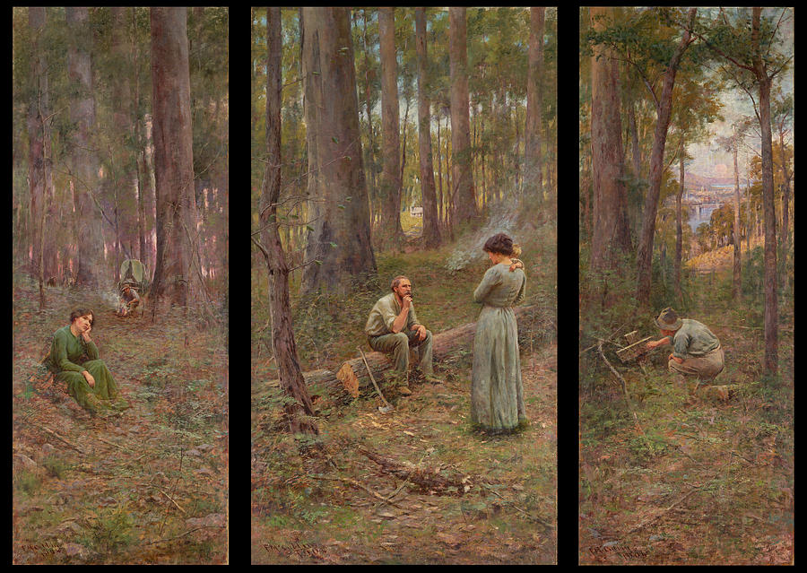 Frederick Mccubbin Painting - The pioneer by Frederick McCubbin