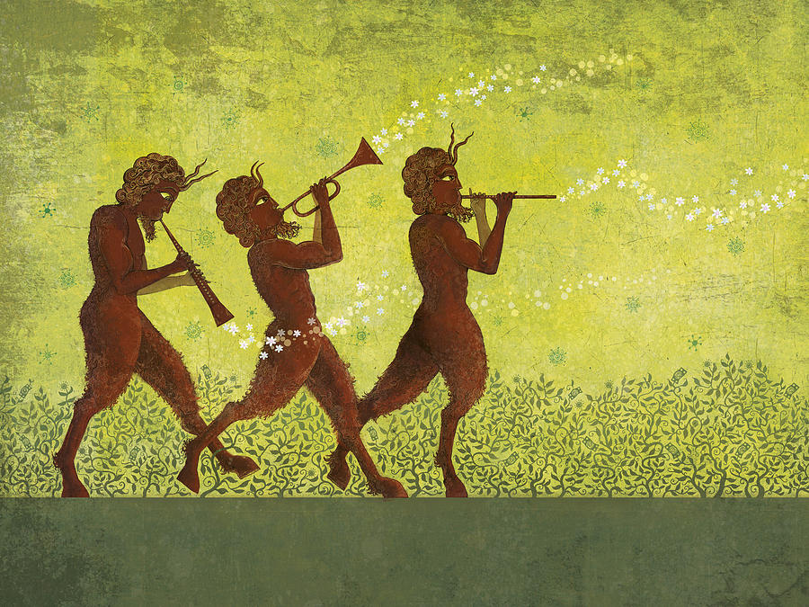 Pipers Digital Art - The Pipers 3 by Dennis Wunsch