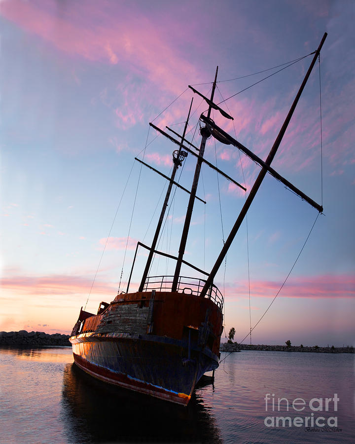 Ship Photograph - The Pirate Ship by Barbara McMahon