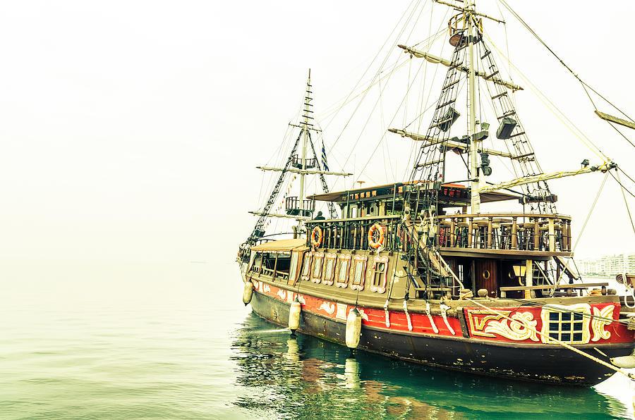 Thessaloniki Photograph - The Pirate Ship. by Slavica Koceva