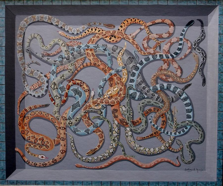 Snake Painting - The Pit by Anthony Morris