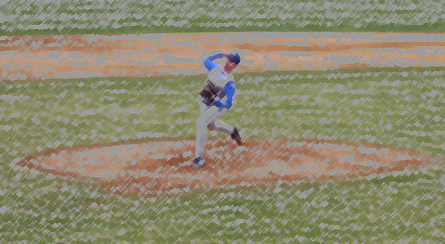 Sports Digital Art - The Pitcher Digital Art by Thomas Woolworth