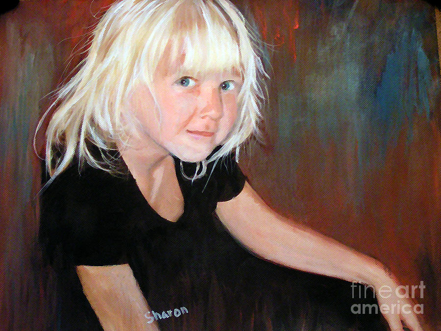 Child Painting - The Pixie Princess Maya Kathleen Burger by Sharon Burger