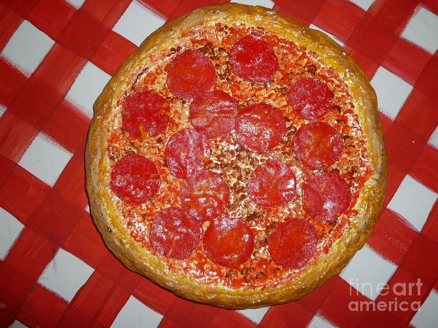 Pizza Mixed Media - The Pizza That Started It All In Roanoke by Paula  Smith