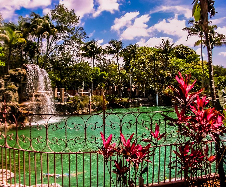Venetian Pool Photograph - The Place To Relax by Zina Stromberg