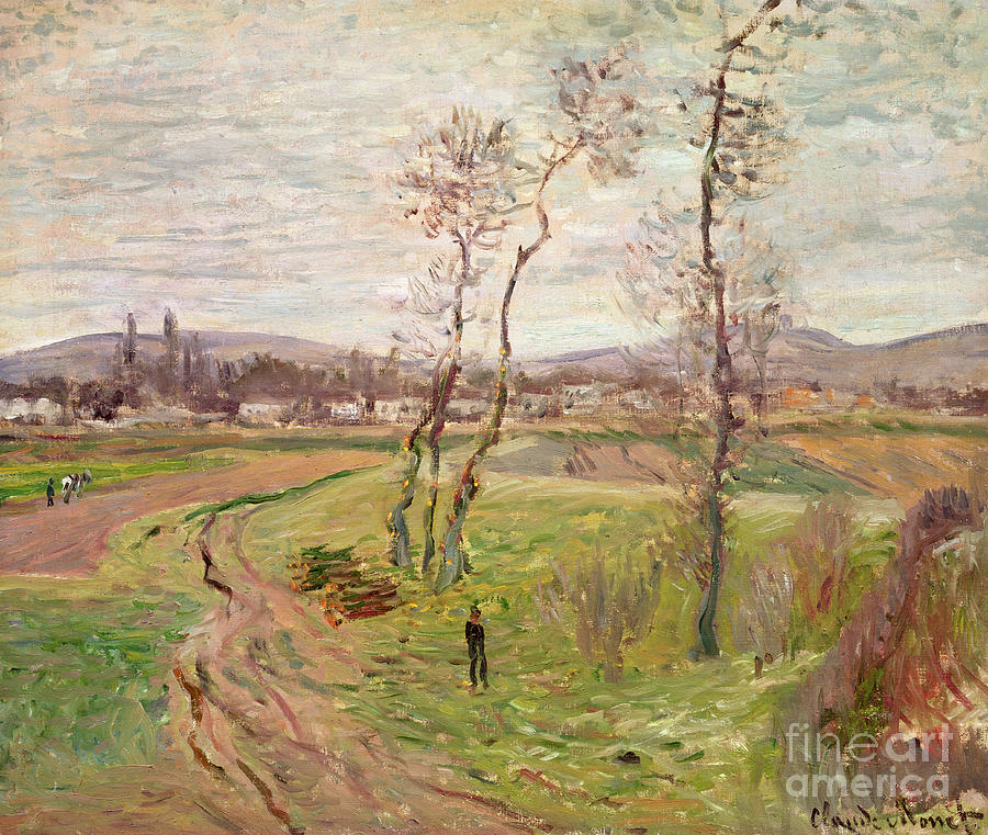 1877 Painting - The Plain At Gennevilliers by Claude Monet