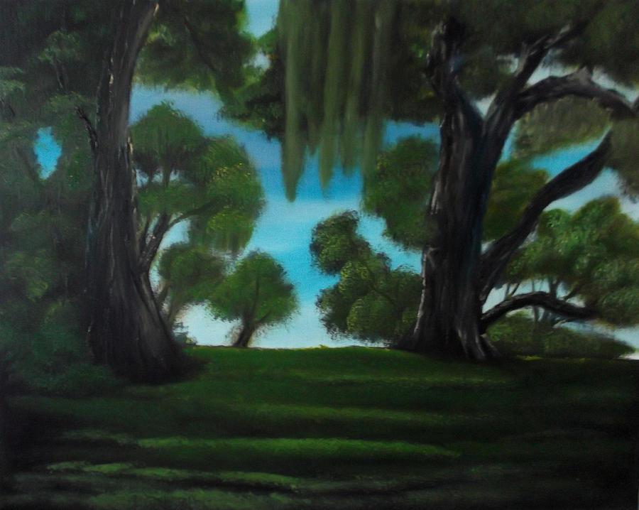Trees Painting - The Plantation by Cynthia Adams