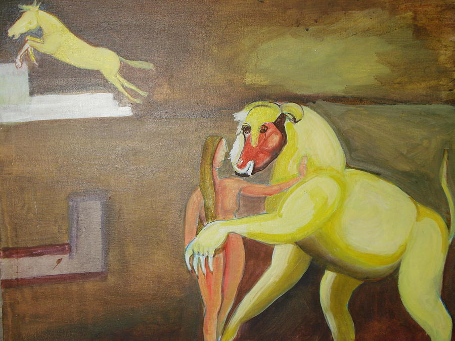 Horse Painting - The Play by Prasenjit Dhar