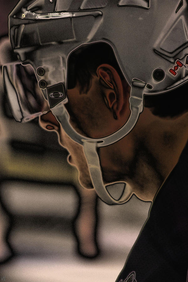 Hockey Photograph - The Player by Karol Livote