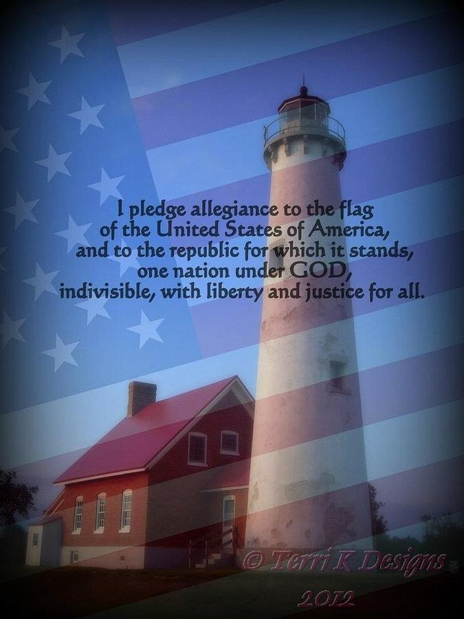 Red Photograph - The Pledge by Terri K Designs