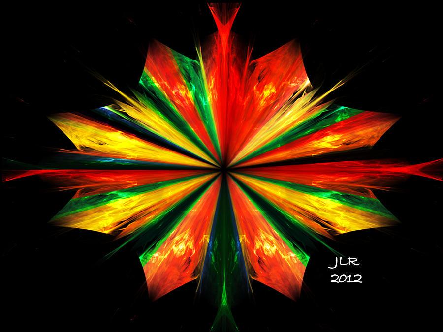 Fractal Digital Art - The Poet by Janet Russell