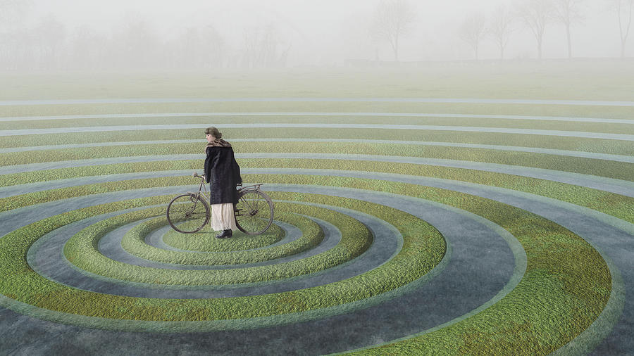 Surreal Photograph - The Point Of No Return by Esther Margraff