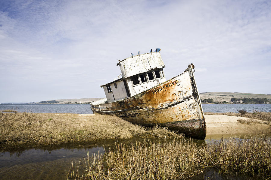 Boat Photograph - The Point Reyes by Priya Ghose