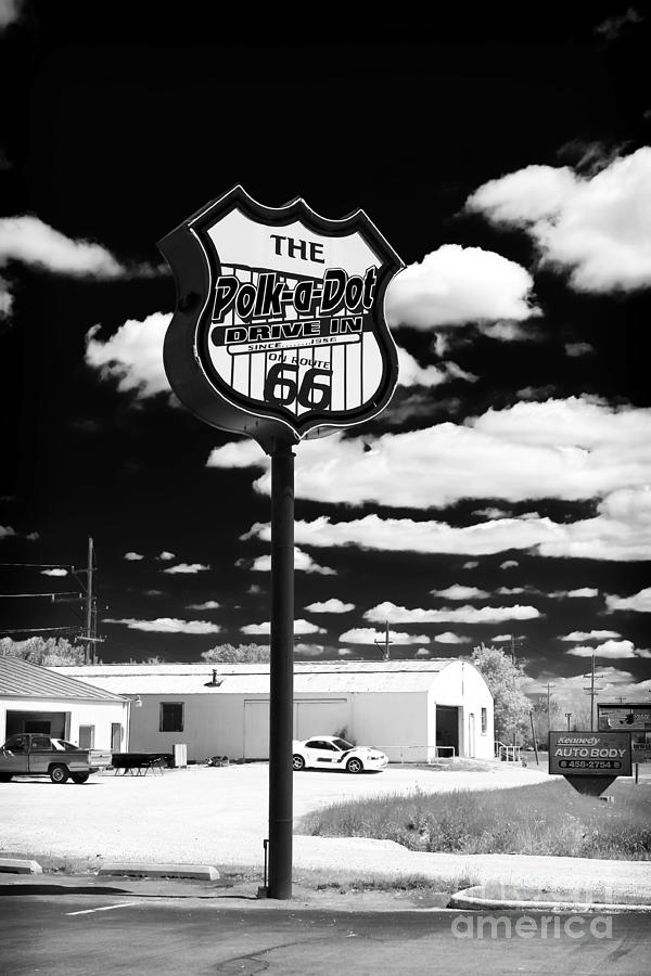 Vintage Photograph - The Polk-a-dot Drive In by John Rizzuto