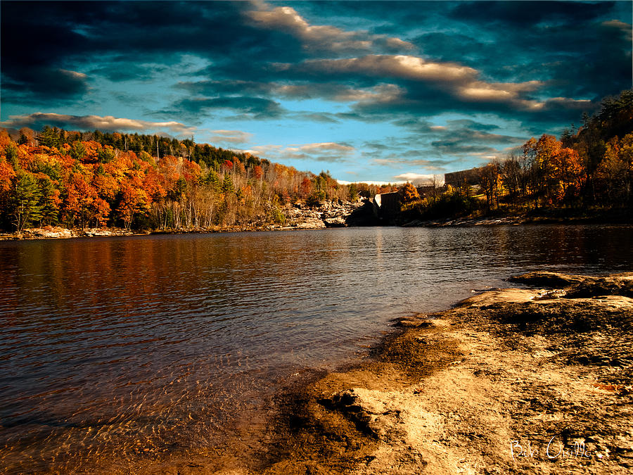 Clouds Photograph - The Pool Below Upper Falls Rumford Maine by Bob Orsillo