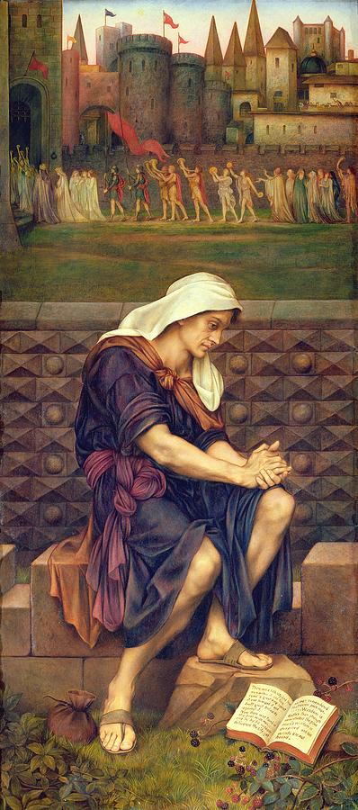 Morality Painting - The Poor Man Who Saved The City by Evelyn De Morgan