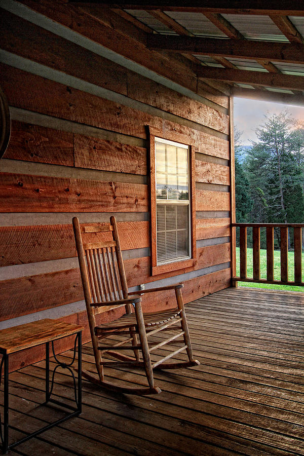 Log Cabin Photograph - The Porch by Victoria Winningham