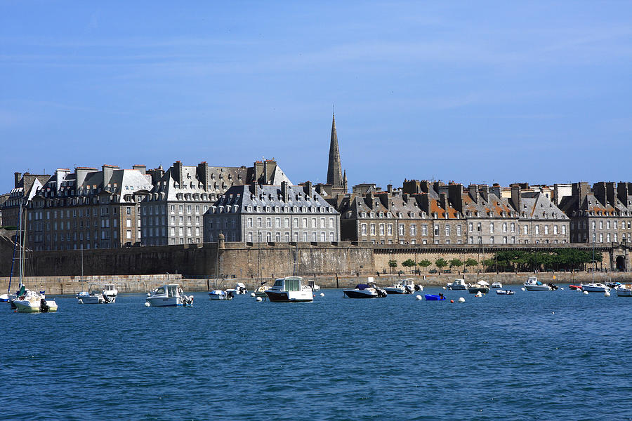 Port Photograph - The Port Of St Malo France by Aidan Moran