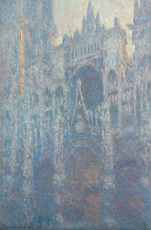 Claude Monet Painting - The Portal Of Rouen Cathedral In Morning Light by Claude Monet