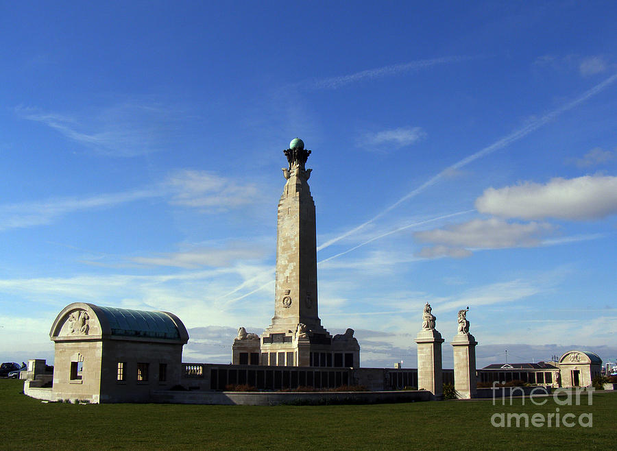 Portsmouth Photograph - The Portsmouth Naval Memorial Southsea by Terri Waters