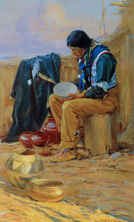 Gerald Cassidy Painting - The Pottery Maker by Gerald Cassidy