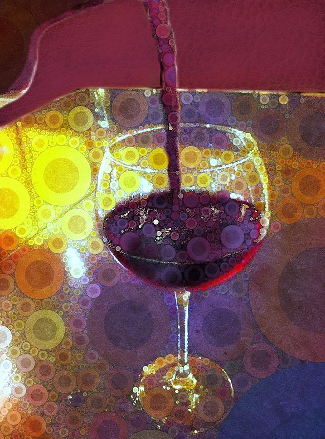 Wine Digital Art - The Pour by Cindy Edwards