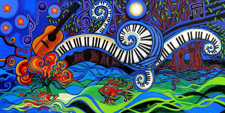 Music Painting - The Power Of Music by Genevieve Esson