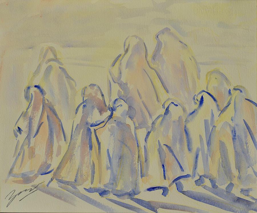 Muslim Painting - The Prayers...ii by Xueling Zou